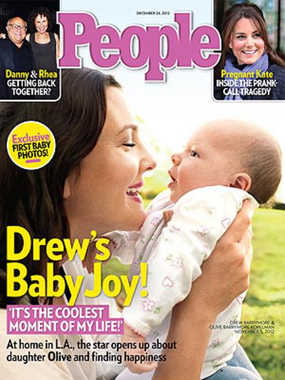 Дрю Бэрримор и ее дочка Оливия: первое официальное фото