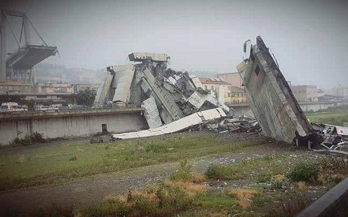 В Италии обрушился автомобильный мост, десятки погибших: опубликованы жуткие фото и видео
