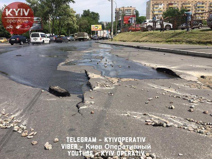 На проспекте Правды в Киеве произошло крупное ЧП: появились фото и видео (5)