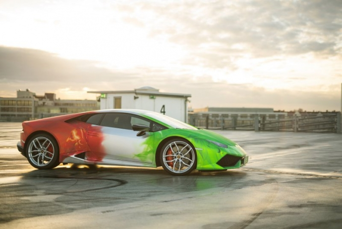 Lamborghini Huracan в эксклюзивной окраске от Print Tech (8 фото)