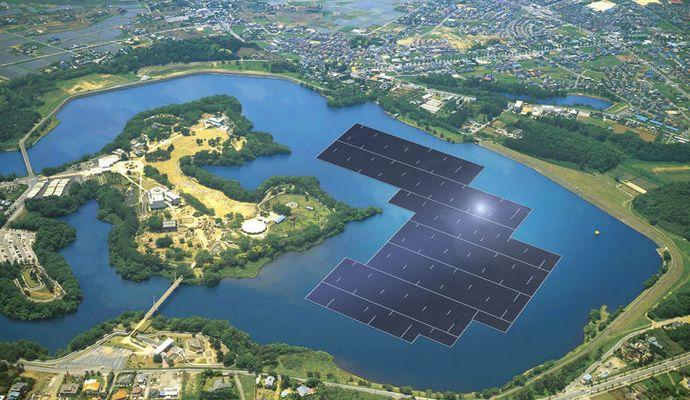 Японцы начали строить самую мощную в мире плавучую солнечную электростанцию