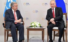 Это были острые вопросы: генсек ООН встретился с Путиным