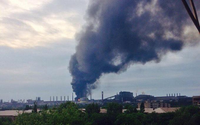 В окупованому Алчевську людей налякала сильна пожежа: з'явилися фото і відео