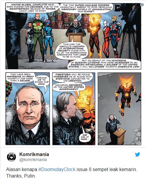 В США вышел комикс, где супергерои взрывают центр Москвы вместе с Путиным (1)