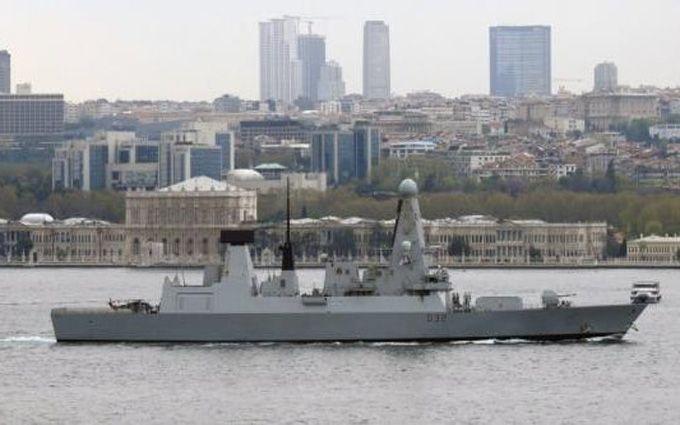 ВЧерное море вошел крупнейший британский эсминец