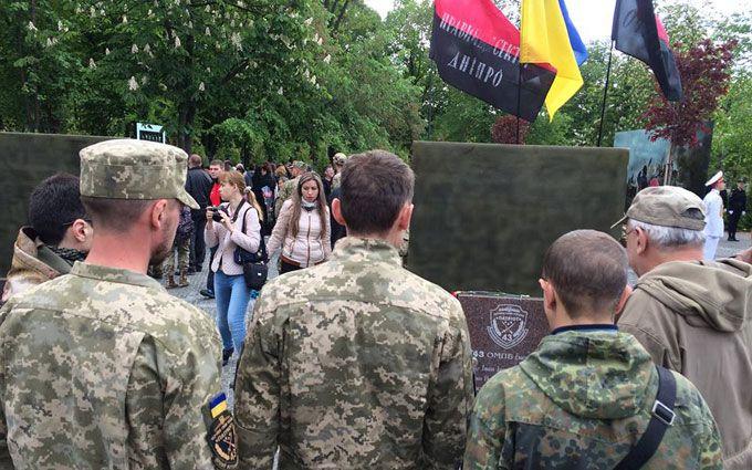 В Днепре открыли Аллею памяти героев АТО: появились фото и видео