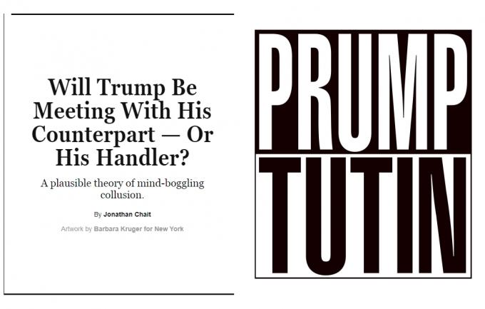 New York Magazine безжалостно высмеял Трампа и Путина на обложке нового номера (1)
