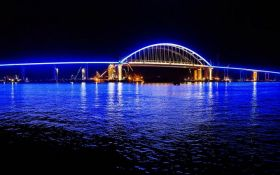 Окупанти похвалилися нічним підсвічуванням на Кримському мосту: опубліковані фото і відео