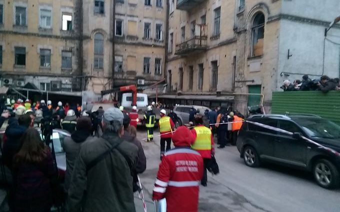 Обвал дома в центре Киева: появились новые детали и фото