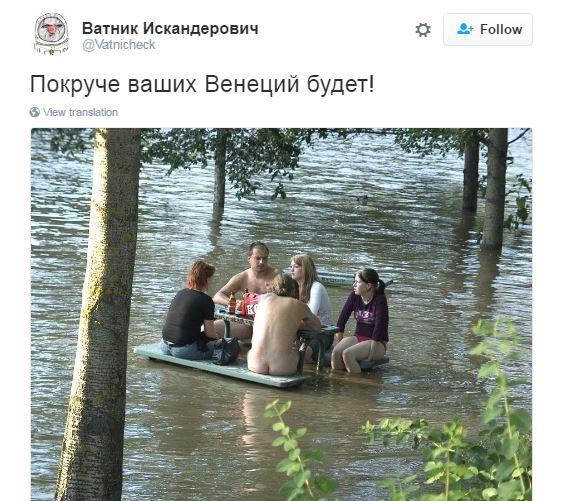 Покруче вашої Венеції: соцмережі вирують через затоплену Москву (1)