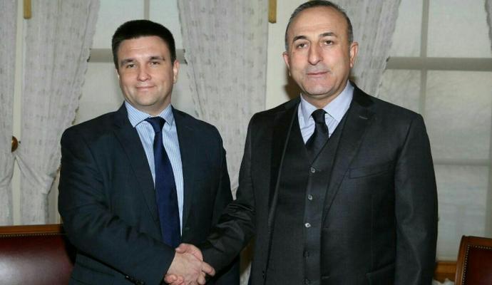 Главы МИД Украины и Турции обсудили нарушения прав человека в Крыму