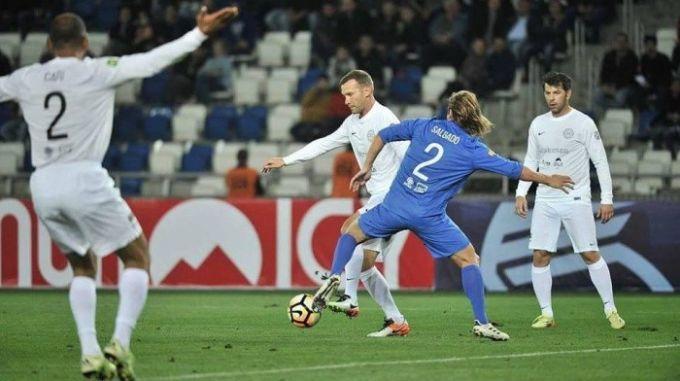 Шевченко отметился голом вматче легенд футбола, организованном Каладзе