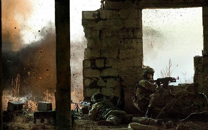 Появились впечатляющие фото боев на Донбассе