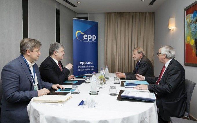 Порошенко обсудил с Юнкером новую финпомощь ЕС для Украины