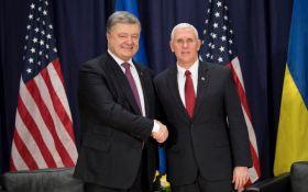 Поддерживаем Украину: вице-президент США показал фото встречи с Порошенко