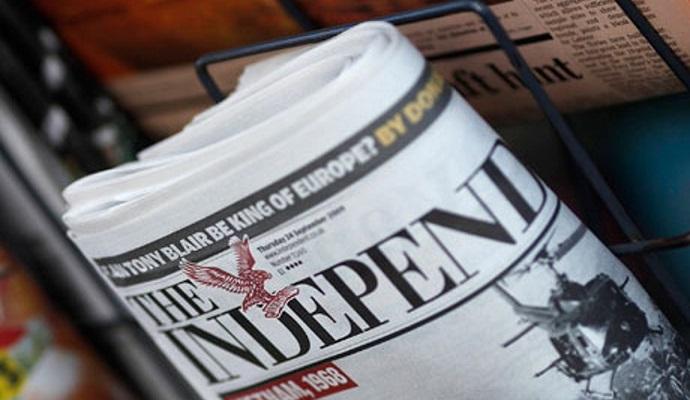 Издание The Independent переходит на полностью цифровой формат