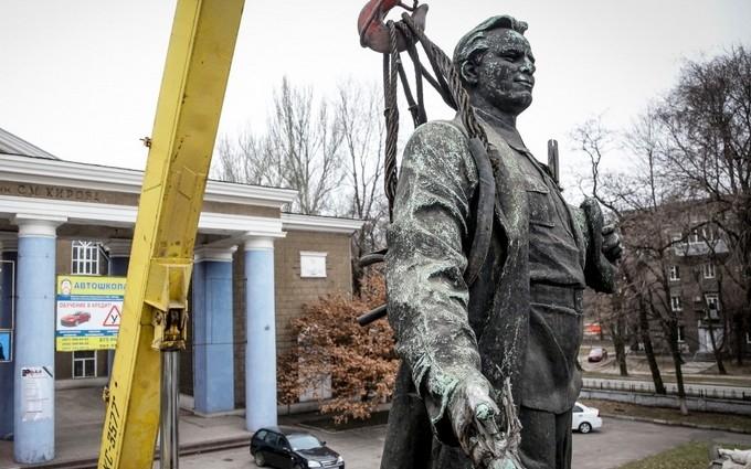 В Запорожье в рамках декоммунизации избавились от Кирова: опубликованы фото