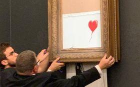 Бенксі показав, як підготував жорсткий розіграш з самознищенням картини на аукціоні: видовищне відео