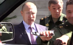 В сети появилось видео курьеза с Путиным и российским авто