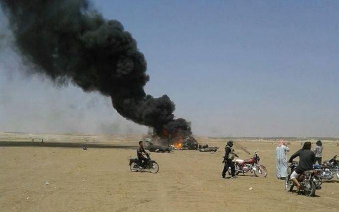 У Сирії збили російський вертоліт: з'явилися фото
