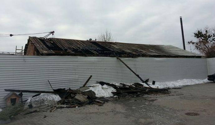 На киевском заводе железобетонных изделий был пожар