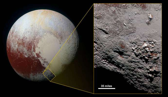 Опубликовано сделанное NASA фото криовулкана с Плутона