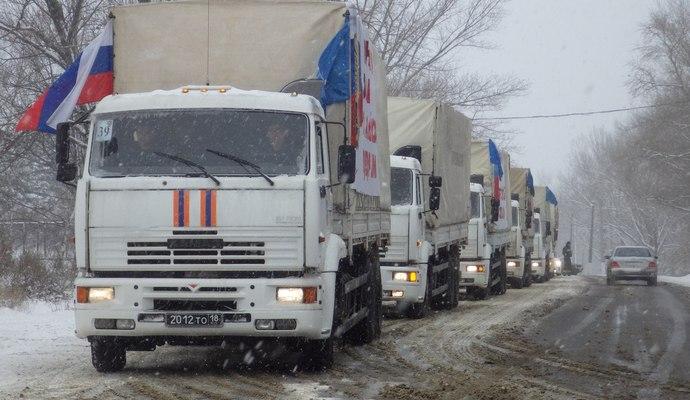 Россия отправит на Донбасс первый за этот год гумконвой