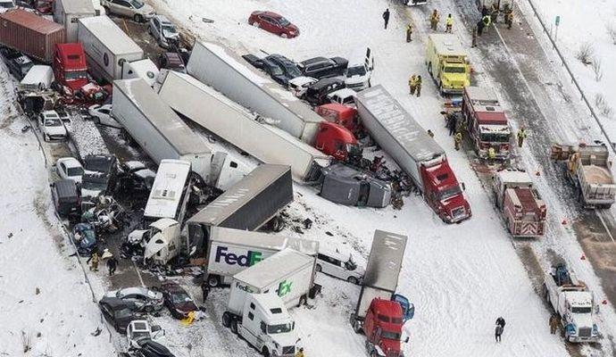 Из-за плохой погоды в США произошло масштабное ДТП: есть погибшие