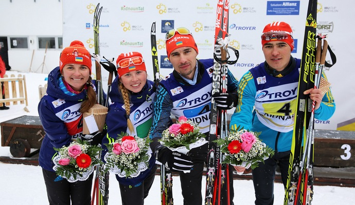 Украинские биатлонисты завоевали два золота за день