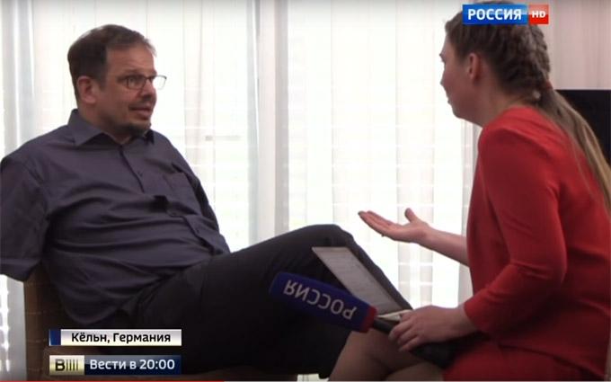 У мережі обговорюють гучний конфлікт німецького журналіста з РосТБ: з'явилося відео