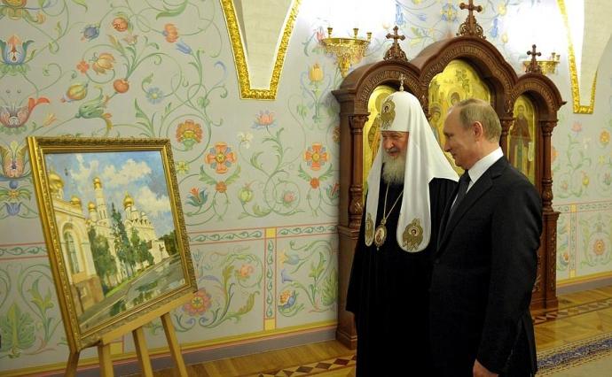Путін зробив подарунок своєму патріархові: опубліковані фото (1)