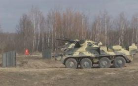 Испытания нового украинского БТР попали на видео