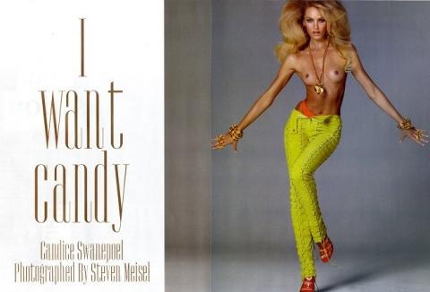 Кэндис Свейнпол в рекламе Victoria s Secret и в Vogue Italia (19 ... ee30c34920768