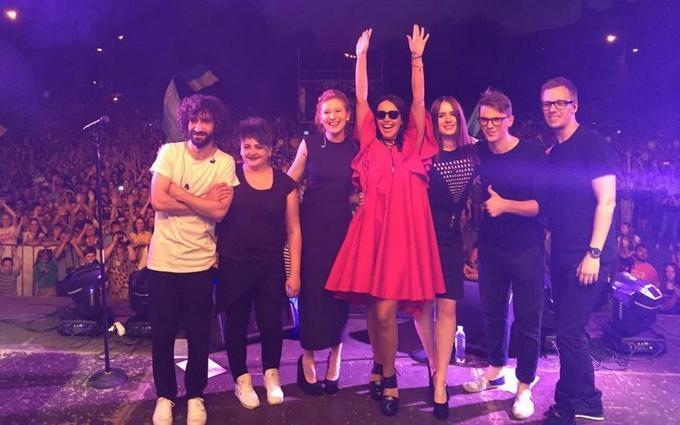 Джамала дала безкоштовний концерт на Донбасі: з'явилися фото