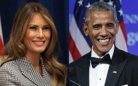 Мережу обурила реакція Меланії Трамп на Барака Обаму: опубліковані фото
