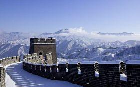 """Це потрібно побачити: Велика китайська стіна перетворилася на """"крижану гірку"""""""