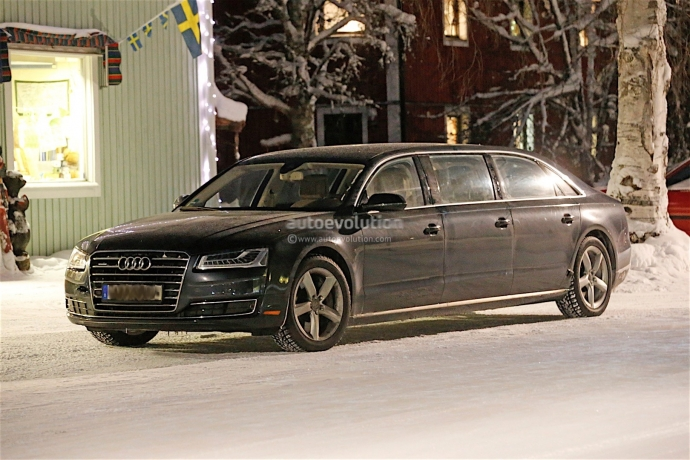 Audi A8 сделают шестидверным лимузином (5 фото)