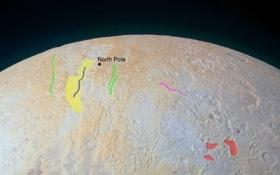В НАСА показали уникальные ледяные каньоны Плутона