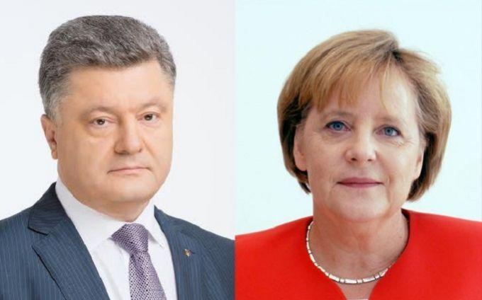 Меркель провела переговори з Порошенко після зустрічі з Путіним