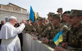Папа Римский благословил украинских бойцов: опубликованы видео и фото