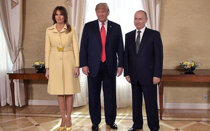 Подивилася в очі злу: Меланія Трамп здивувала дивною емоцією під час зустрічі з Путіним