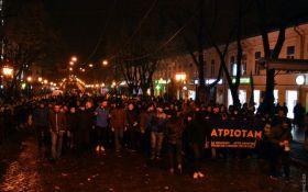 В Одессе ультрас прошли с маршем в поддержку пленных на Донбассе украинцев