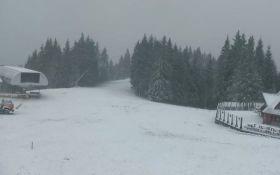 В Украину пришел первый снег: появились фото и видео