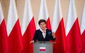 Авария с премьером Польши: появилось видео с места инцидента