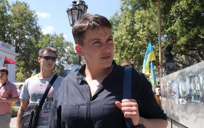 В Савченко в Одессе бросили яйца: опубликованы фото