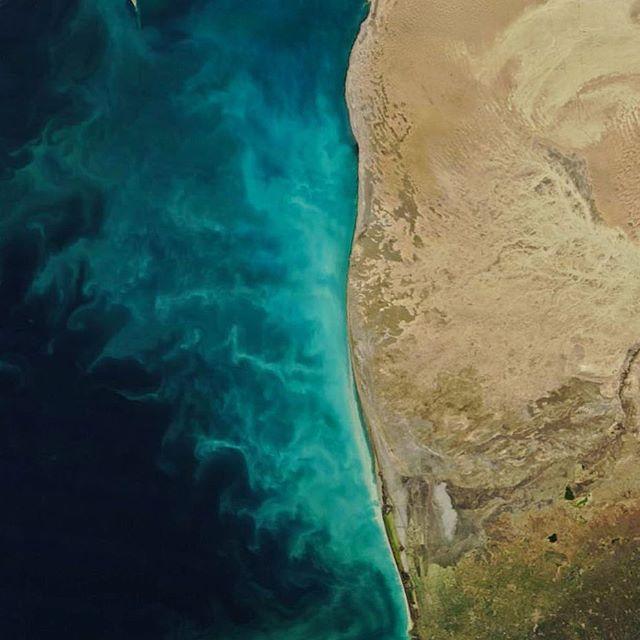 Молочные вихри: NASA показало аномальный процесс в Каспийском море (1)