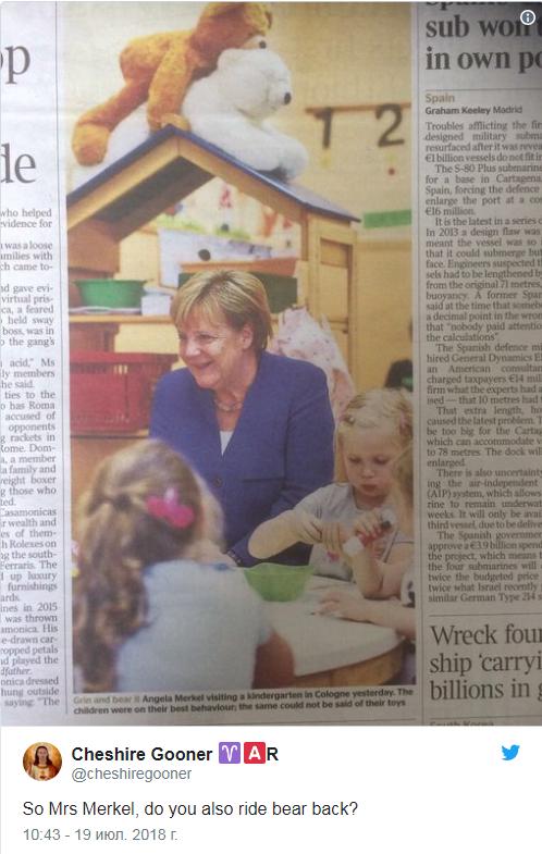 Меркель и медведи: сеть смеется над курьезным фото (1)