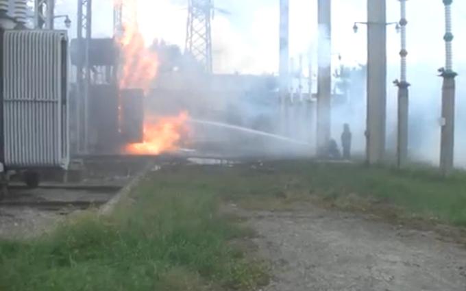 В Харкові загорілась електростанція: опубліковано відео