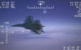З'явилося відео перехоплення американського літака Росією над Чорним морем