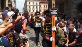 Во Львове с погибшим Слипаком прощаются тысячи людей: появились фото